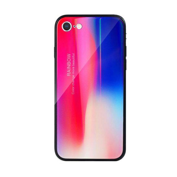 Etui do iPhone SE2020/8/7 silikonowe kolorowe mieniące ombre