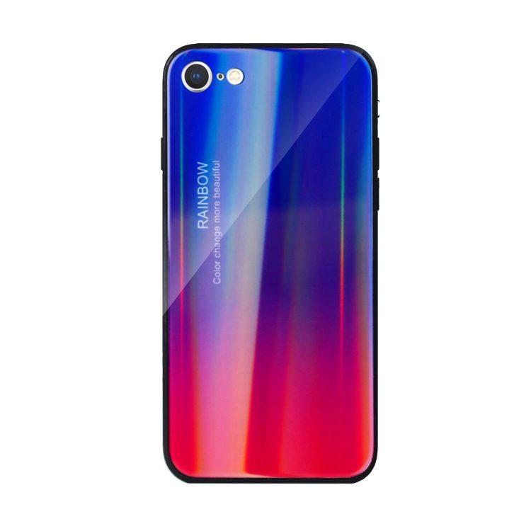 Etui Iphone 7 8 Refleks Niebiesko Czerwony