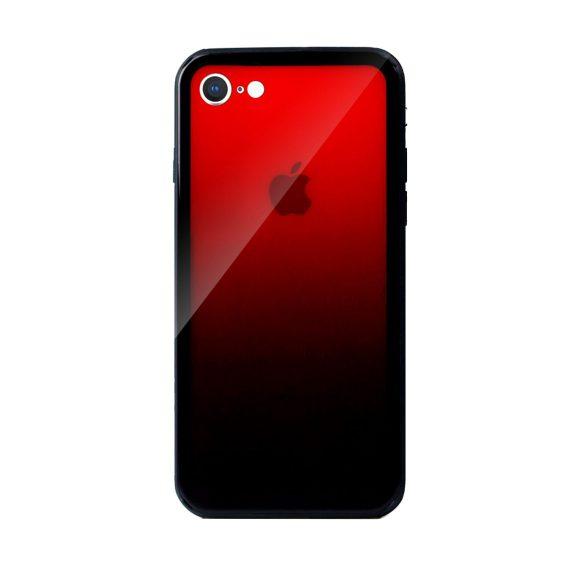 Etui do iPhone SE2020/8/7 półprzeźroczyste czerwone