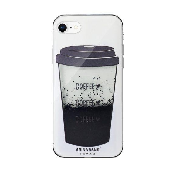 Etui do iPhone SE2020/8/7 ekskluzywne kubek kawy z dynamicznym płynem