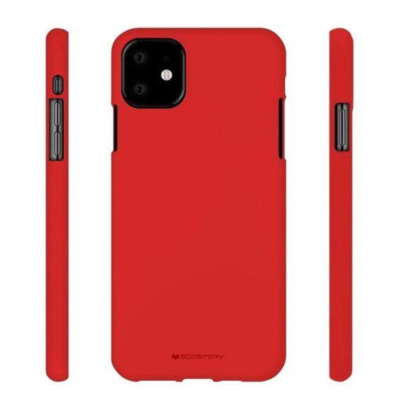Czerwone Etui Silikonowe Soft Do Iphone 11 7