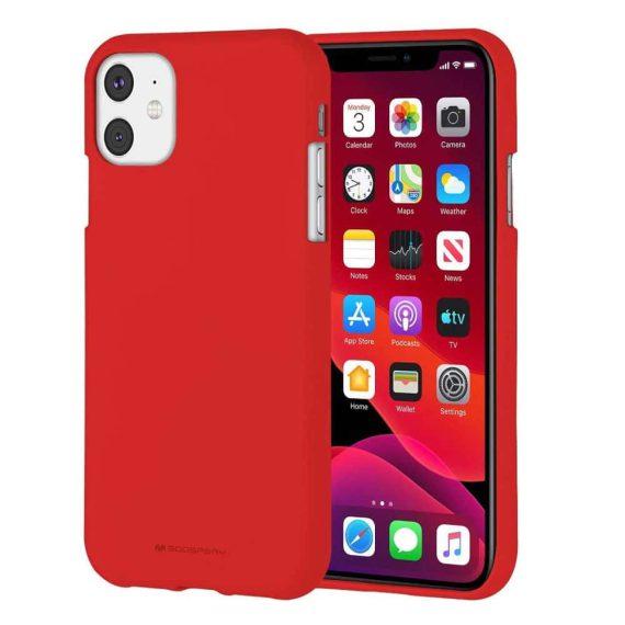 Etui do iPhone 11 czerwone silikonowe SOFT