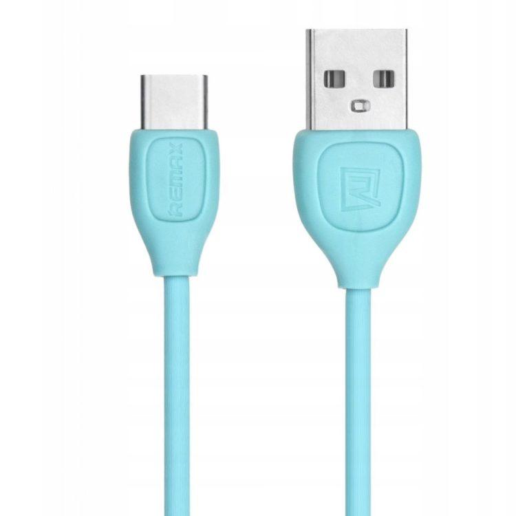 Kabel Usb Typ C Do Iphone Świecący 1m Niebieski
