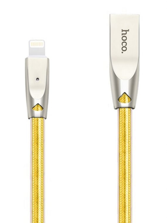 Kabel Usb Do Iphone Marki Hoco Lightning 1,2 Metra żółty