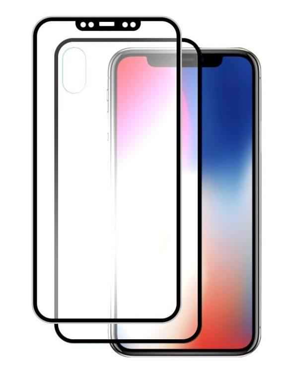 Szkło Hartowane Wozinsky Na Cały Ekran + Osłona Na Tył Z Aluminiową Ramką Iphone Xs X Czarny