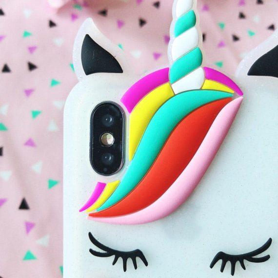 Etui Gumowe Jednorozec Iphone X Xs 3