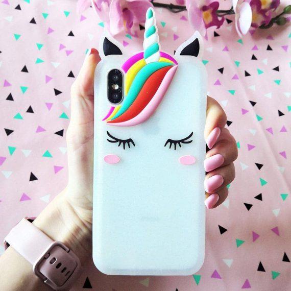 Etui Gumowe Jednorozec Iphone X Xs