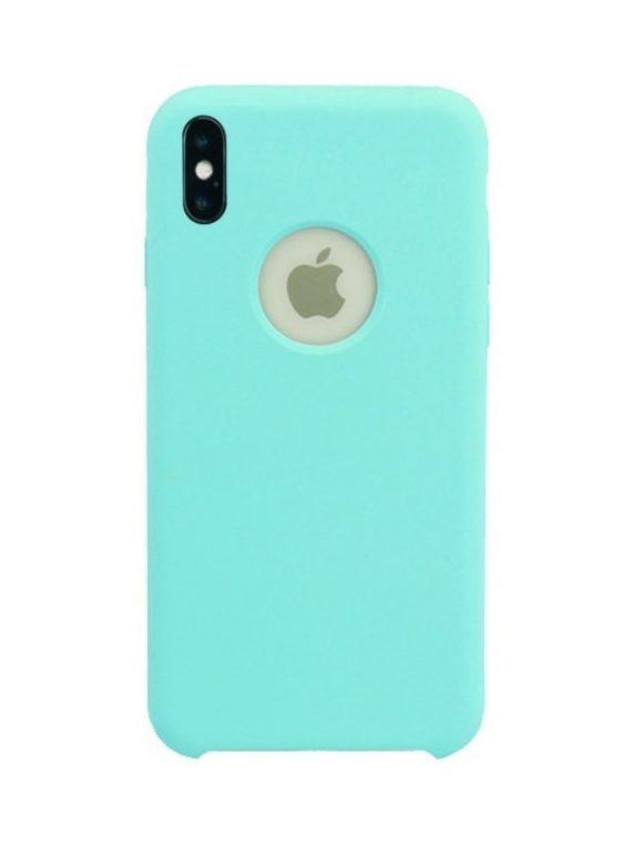 Etui Iphone X Xs Mikrofibra Mietowy