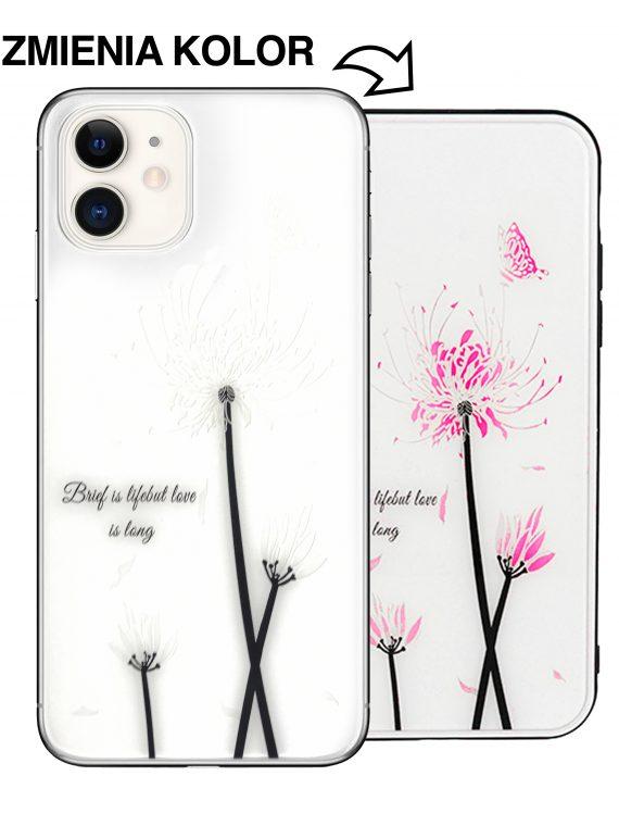 Etui Kwiat Czarno Biały Do Phone 11