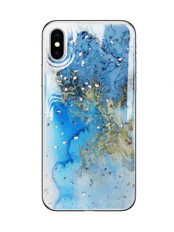 Etui Niebieski Marmur Do Phone X Xs