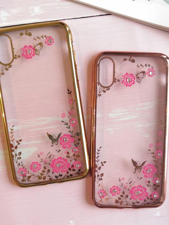 Etui Róże Nzadru Do Phone X Xs Miedziany 8