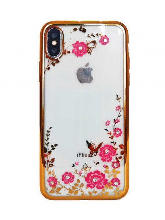 Etui Róże Nzadru Do Phone X Xs Złoto