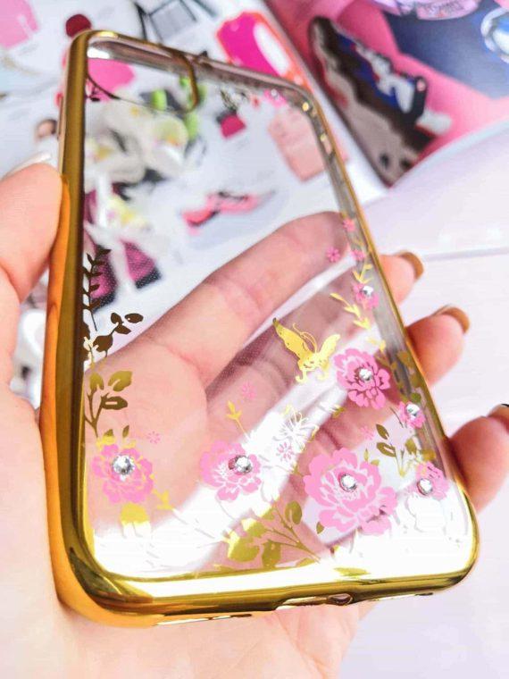 Etui Róże Nzadru Do Phone11 Złoto 1