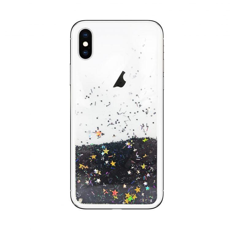 Etui Z Płynem Do Phone X Xs Czarne Z Gwiazdami