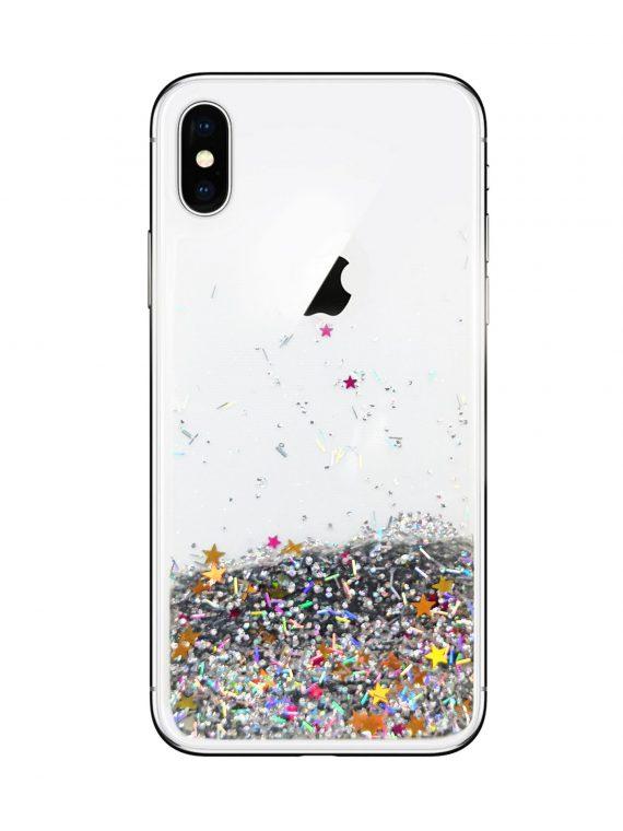 Etui Z Płynem Do Phone X Xs Srebrny