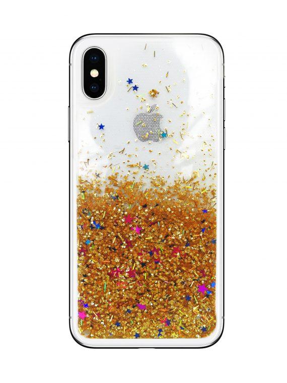 Etui Z Płynem Do Phone X Xs Zloty Z Gwiazdami