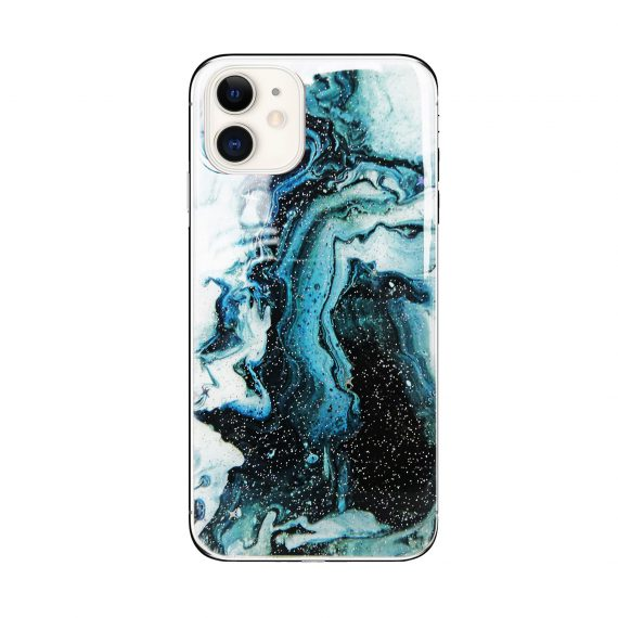 Etui do iPhone 11 ochronne marmurowe zielone