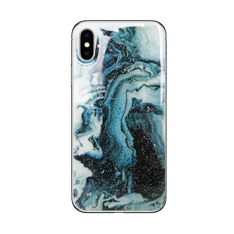 Etui Zielony Marmur Do Phone X Xs