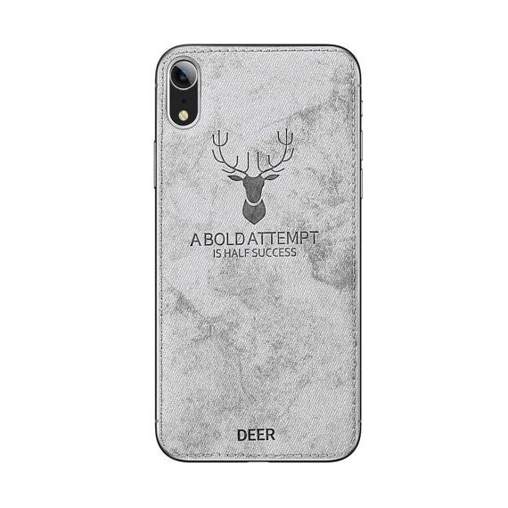 Materiałowe etui do Iphone XR- DEER- back case  obudowa Iphone XR