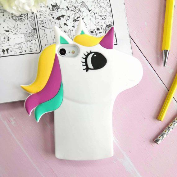 Etui Gumowe Zwierzak Jednorożec Biały Iphone 7 8 A