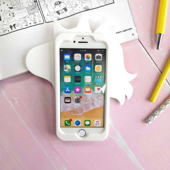 Etui Gumowe Zwierzak Jednorożec Biały Iphone 7 8 C