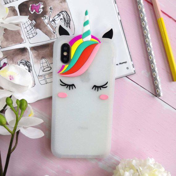 Etui Gumowe Zwierzak Jednorożec Z Grzywą Iphone X Xs 5
