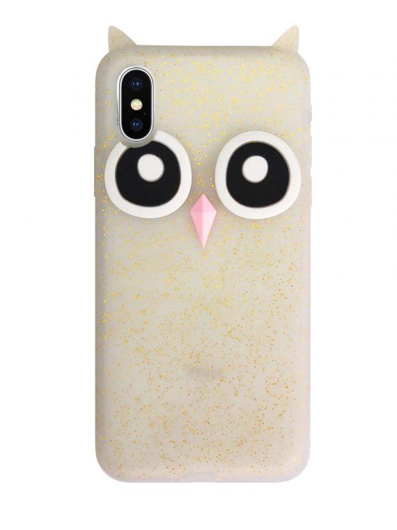Etui Gumowe Zwierzak Sowa Iphone X Xs W