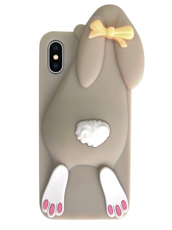 Etui Gumowe Zwierzak Zając Iphone X Xs W
