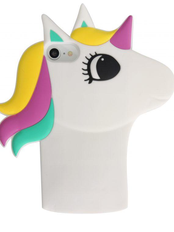 Etui Iphone 7 8 Gumowy Zwierzak Jednorożec Biały Z Kroną