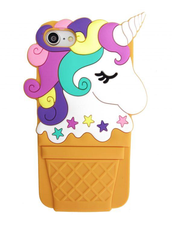 Etui Iphone 7 8 Gumowy Zwierzak Jednorożec Lody 1
