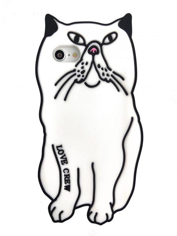 Etui Iphone 7 8 Gumowy Zwierzak Kot Kotek