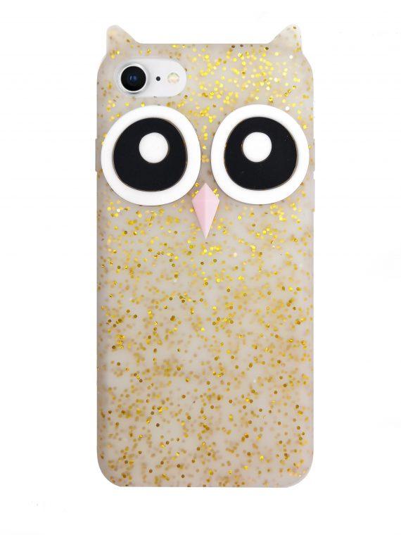 Etui Iphone 7 8 Gumowy Zwierzak Sowa