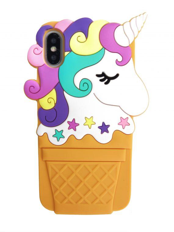 Etui Iphone X Xs Gumowy Zwierzak Jednorożec Lody