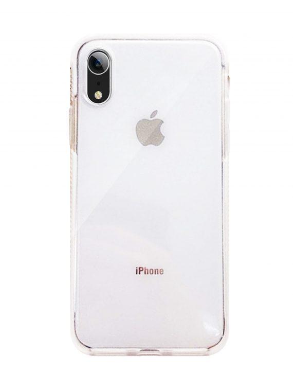 Etui Iphone Xr Brokat Przezroczyste Biale Boki