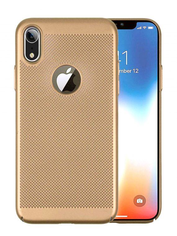 Etui Iphone Xr Oddychające Złote