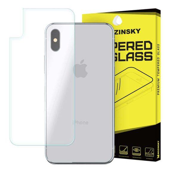 Szkło hartowane 9H na tył obudowy iPhone X/XS