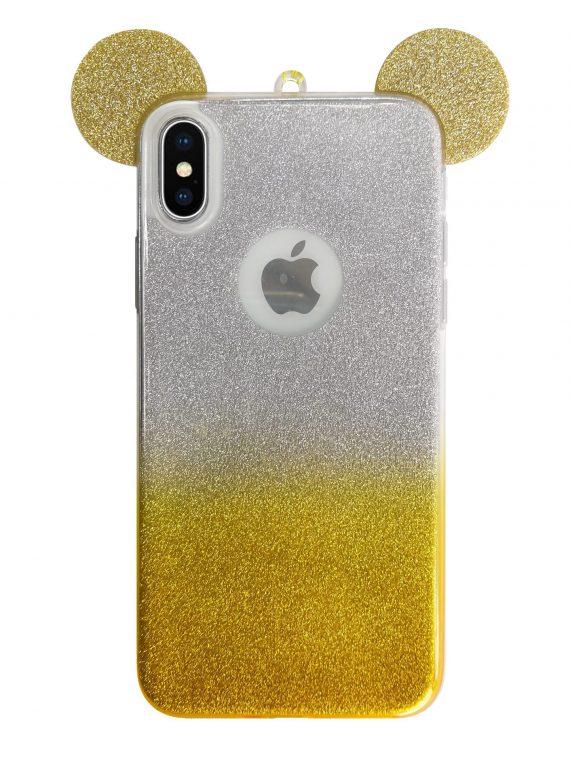 Etui Z Uszkami Brokat Mysz Iphone X Xs 8
