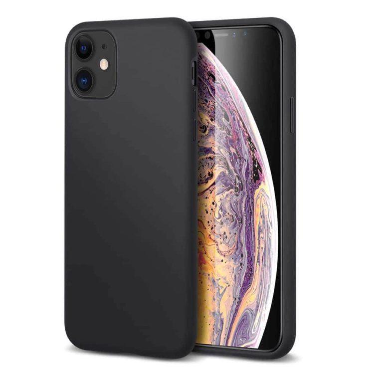 Iphone 12 Etui Czarne Silikoowe