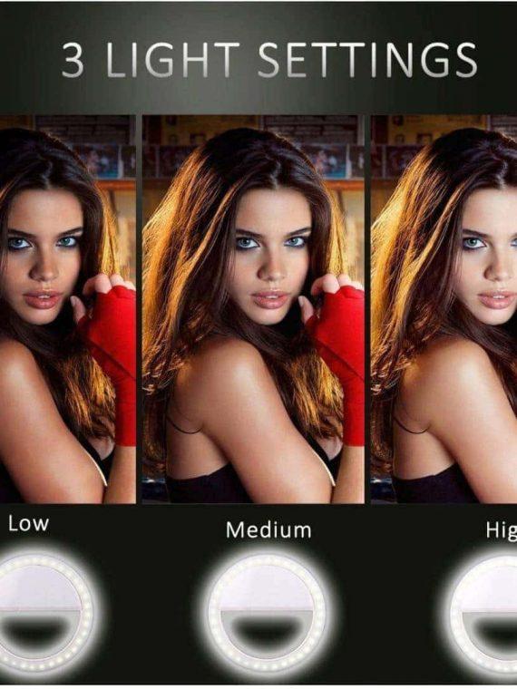 Lampa Pierścieniowa Do Zjęć Selfie Biała+kabel Usb Micro 7