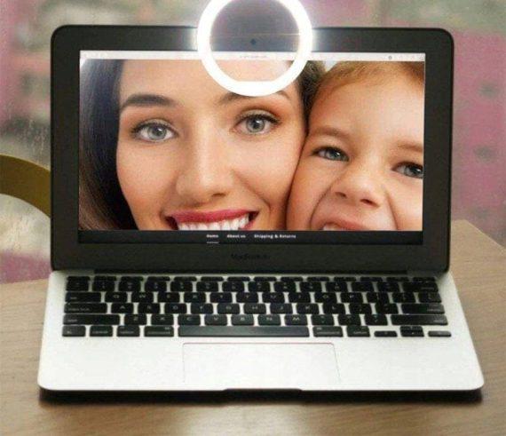 Lampa Pierścieniowa Do Zjęć Selfie Biała+kabel Usb Micro 9