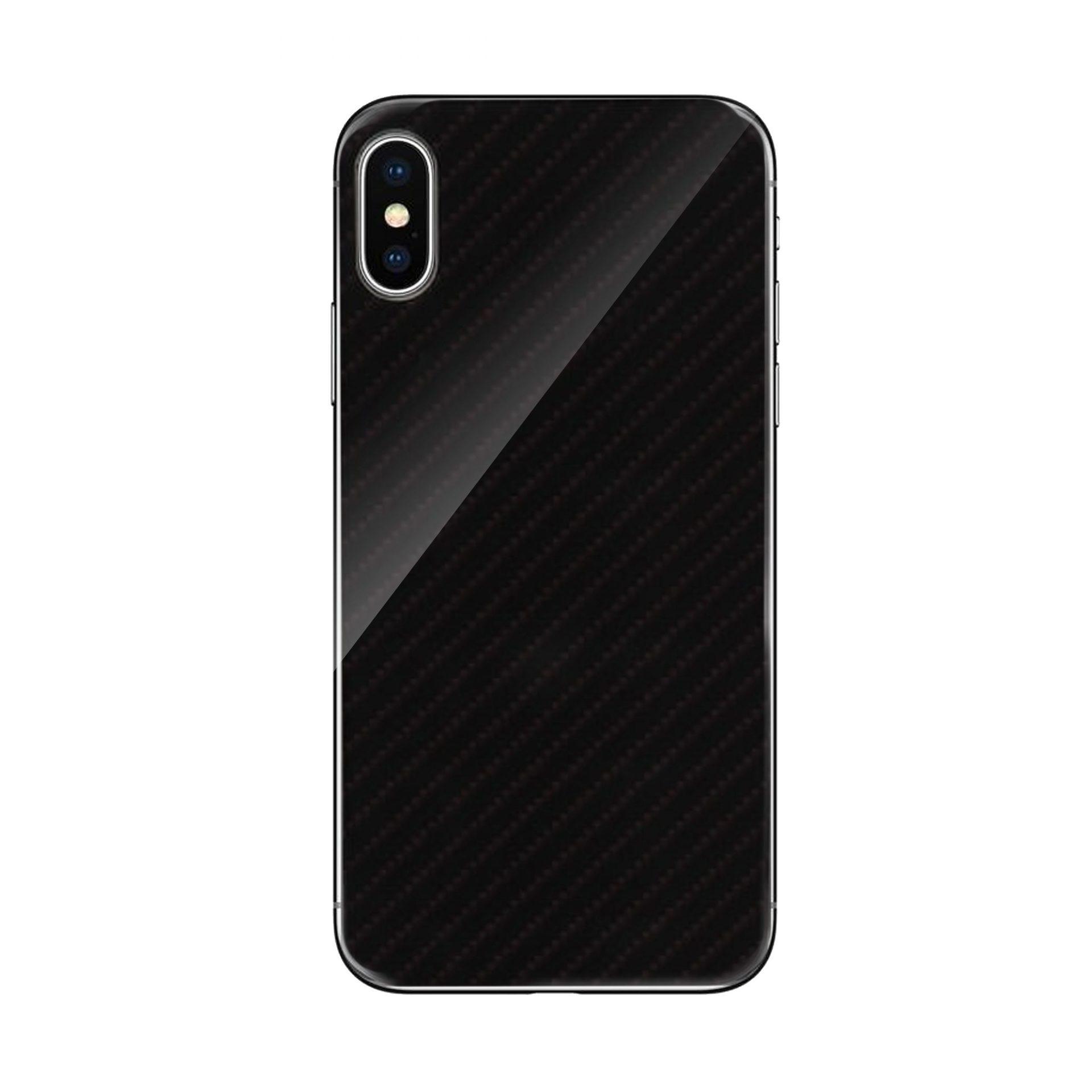 Etui Carbon Glass Case do Iphone X/XS Czarny