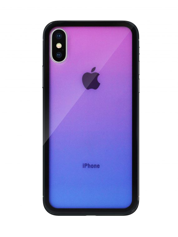Mock Up Etui Iphone X Xs Gradient Fioletowy