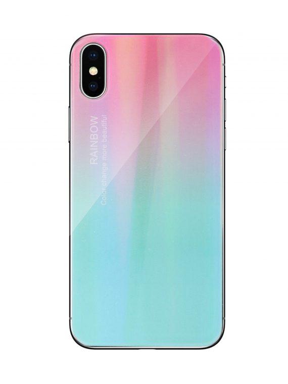 Mock Up Etui Iphone X Xs Gradient Rozowo Mietowy