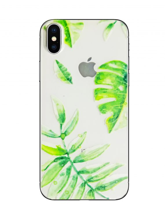 Mock Up Etui Iphone X Xs Liścia Palmy Nadruk