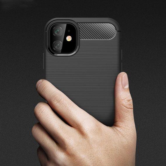 Pol Pm Carbon Case Elastyczne Etui Pokrowiec Iphone 11 Czarny 52071 2