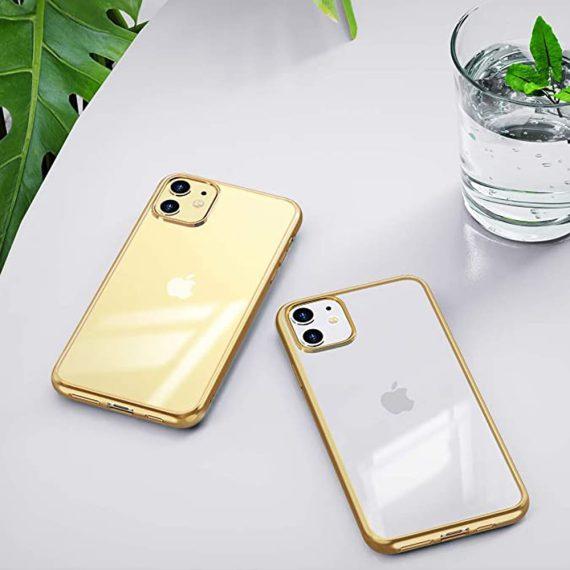 Etui Iphone 11 Transparentrze Ze Złota Ramka 1