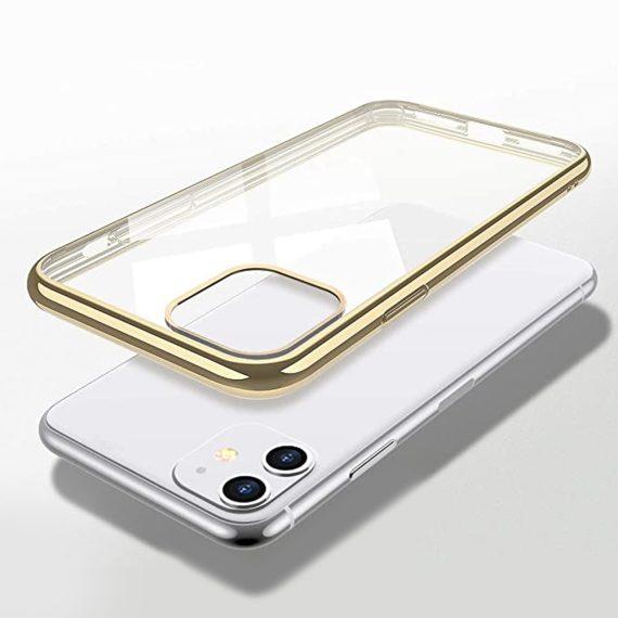 Etui Iphone 11 Transparentrze Ze Złota Ramka 2