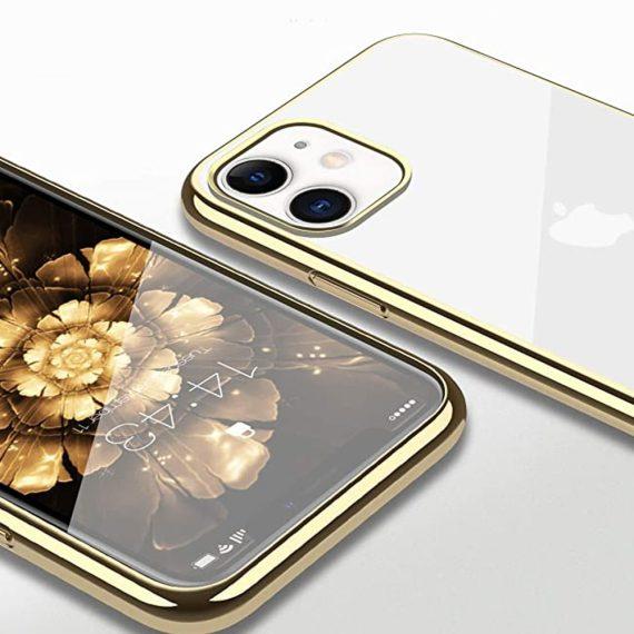 Etui Iphone 11 Transparentrze Ze Złota Ramka 3