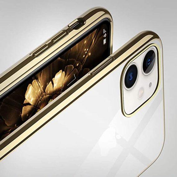 Etui Iphone 11 Transparentrze Ze Złota Ramka 4