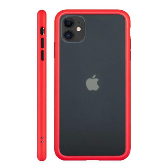 Etui do iPhone 11 ochronne z czerwonymi bokami i kolorowymi przyciskami